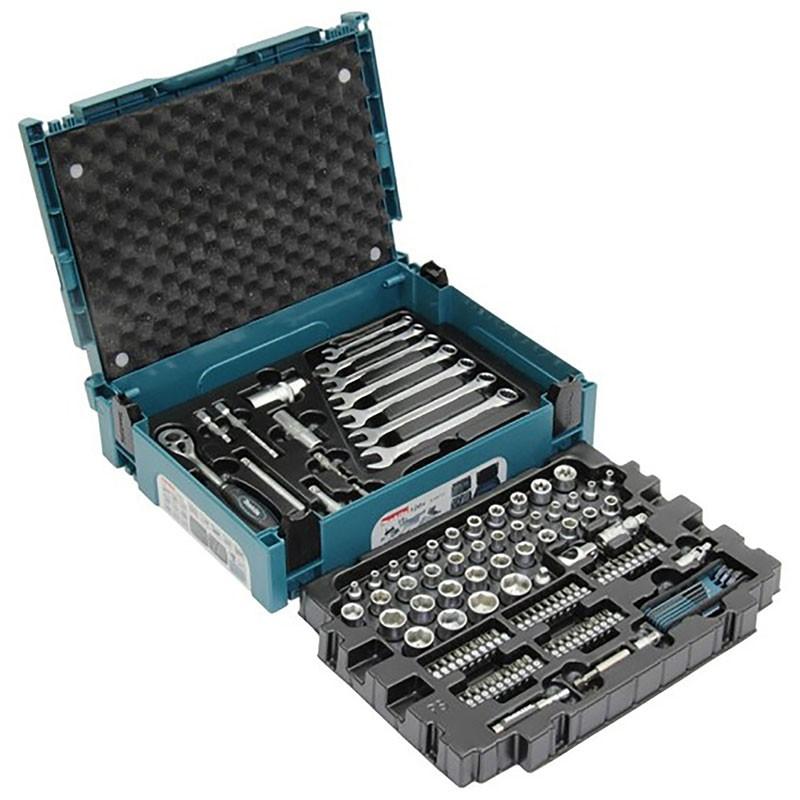 Makita Werkzeugset 120 tlg. im Makpac Werkzeugkoffer Werkzeugkasten