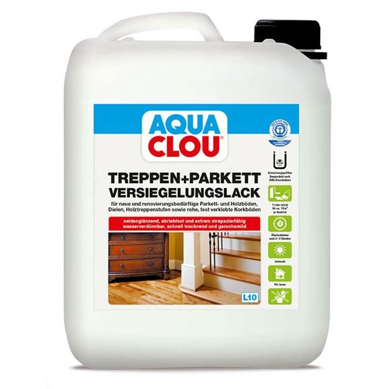 Aqua Clou Treppen- und Parkett Versiegelungslack  5,00 Ltr.