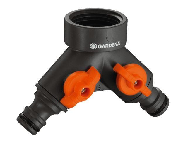 Gardena 2-Wege-Ventil für 21 mm (G1/2) Wasserhahn 938-20