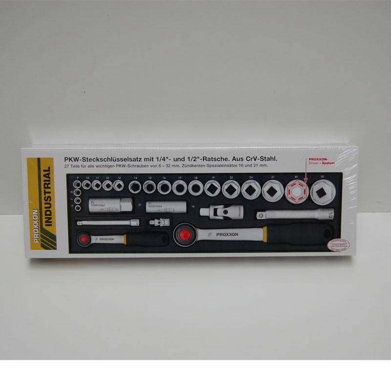"""Proxxon Steckschlüsselsatz 1/2"""" + 1/4""""  27 TLG NR. 23020"""