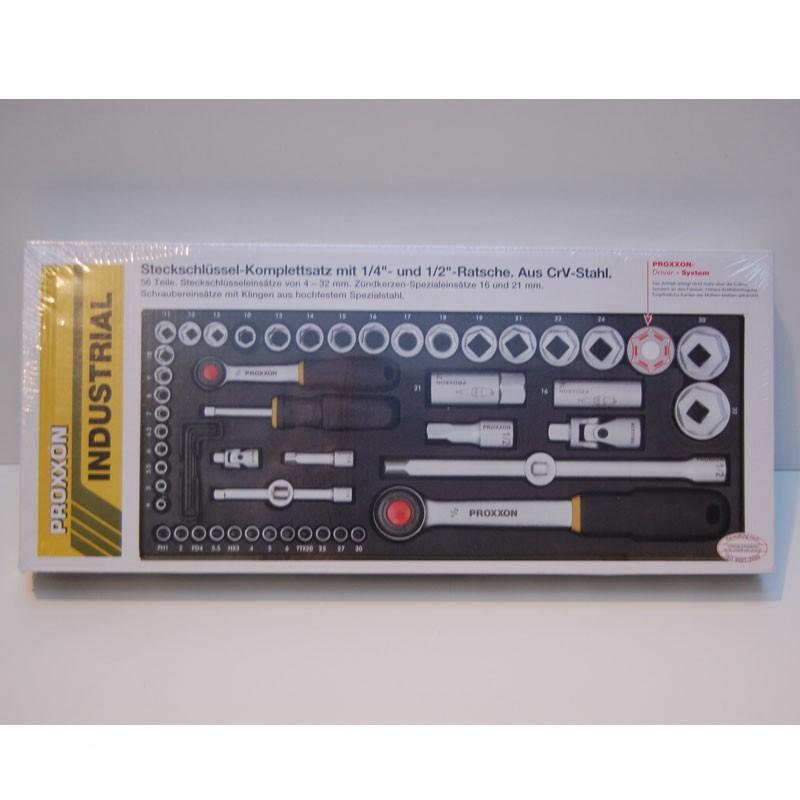 """Proxxon Steckschlüsselsatz 1/2"""" + 1/4""""  56 TLG  NR. 23040"""
