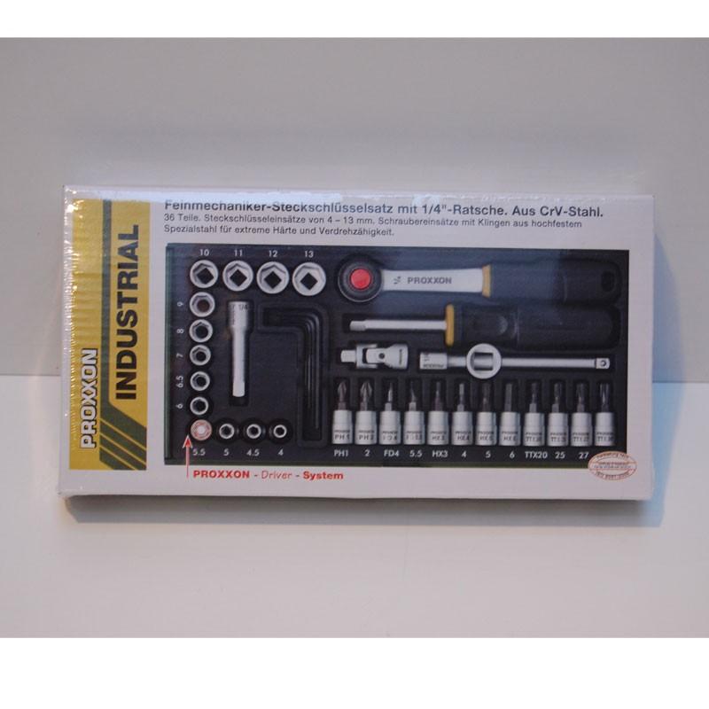 """Proxxon Steckschlüsselsatz 1/4"""" 36 TLG  NR. 23080"""