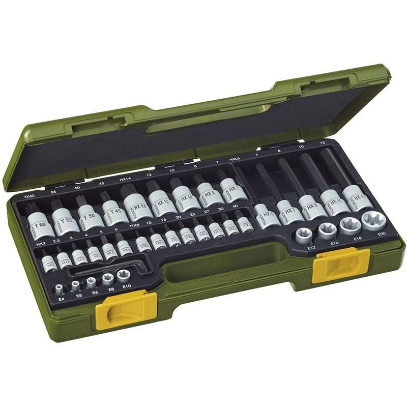 Proxxon Steckschlüsselsatz 1/4 Zoll + 1/2 Zoll 41 tlg. Nr. 23290