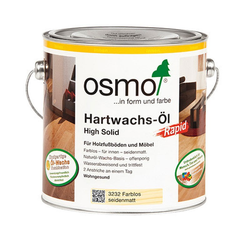Osmo Hartwachs-Öl  Rapid 2,5 ltr. 3232 Farblos Seidenmatt