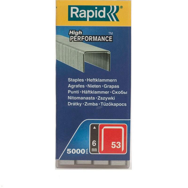 Rapid Heftklammer Typ 53 / 6 mm 5.000 Stück