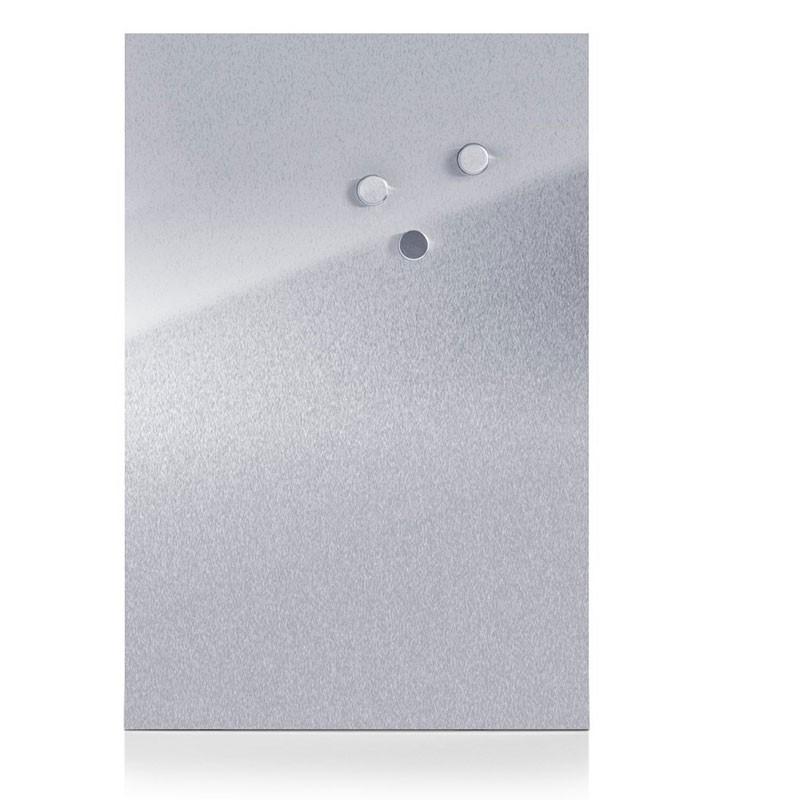 Zeller Magnettafel Edelstahl 40x60 cm, inklusiver 3 Magnete