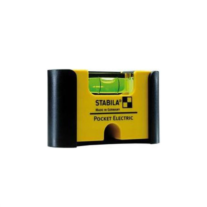 Stabila Mini Wasserwaage Pocket Electric mit Gürtelclip
