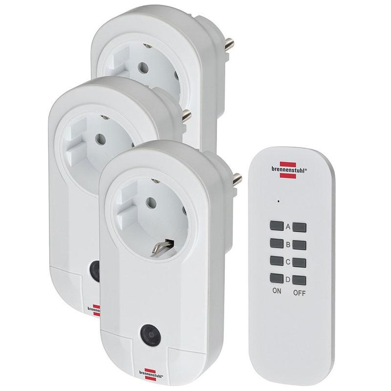 Brennenstuhl Funkschalt-Set Comfort-Line RC 1 x Sender 3 x Empfänger