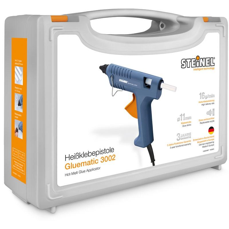 Steinel Heißklebepistole Gluematic 3002 im Koffer + 8 Klebesticks