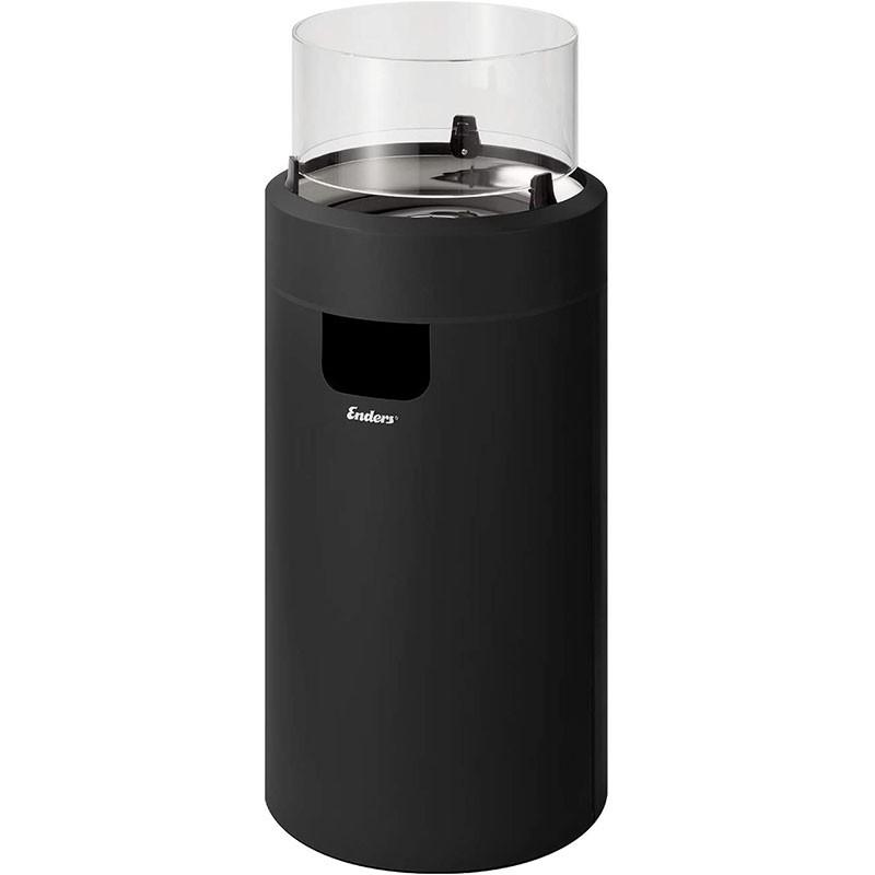 Enders Terrassenfeuer Nova LED Gr. M Black 2,5 kW Ambiente-Licht und Flamme