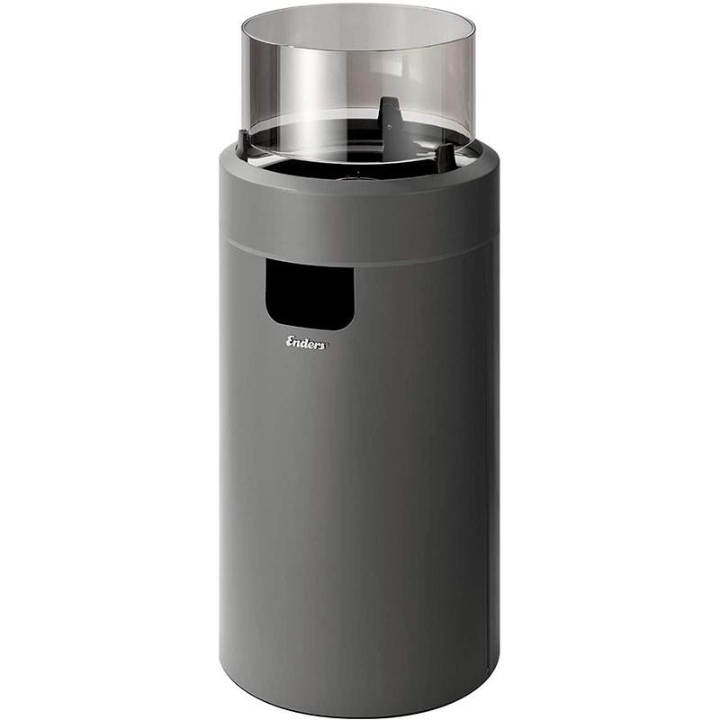 Enders Terrassenfeuer Nova LED Gr. M Grey 2,5 kW Ambiente-Licht und Flamme