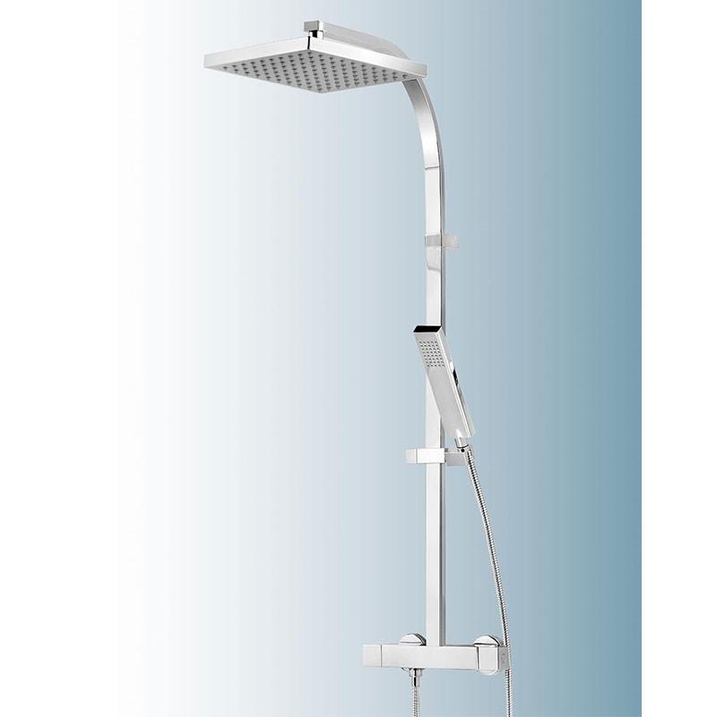 Schulte Duschmaster Rain II D9635 mit Thermostat, Kopfbrause eckig
