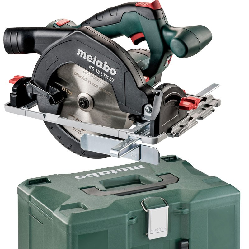 Metabo Akku-Handkreissäge KS 18 LTX 57 im Koffer ohne Akku und Ladegerät