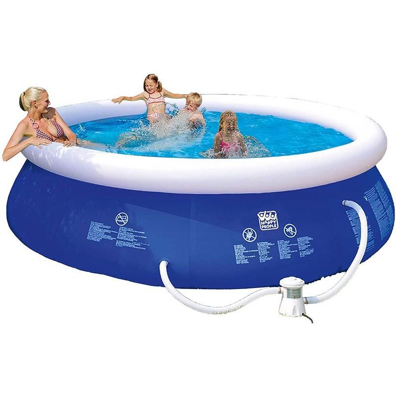 Happy People Quick Up Pool Set  360 x 76 cm mit Filterpumpe