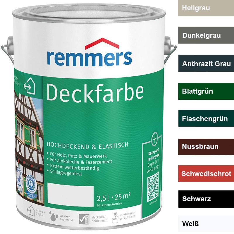 Remmers Deckfarbe 2,5 Ltr. Wetterschutzfarbe Hochdeckend, Elastisch